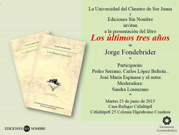 864ce3c44 La lectura de este inspirado libro del escritor argentino Jorge Fondebrider  deja una sensación extraña