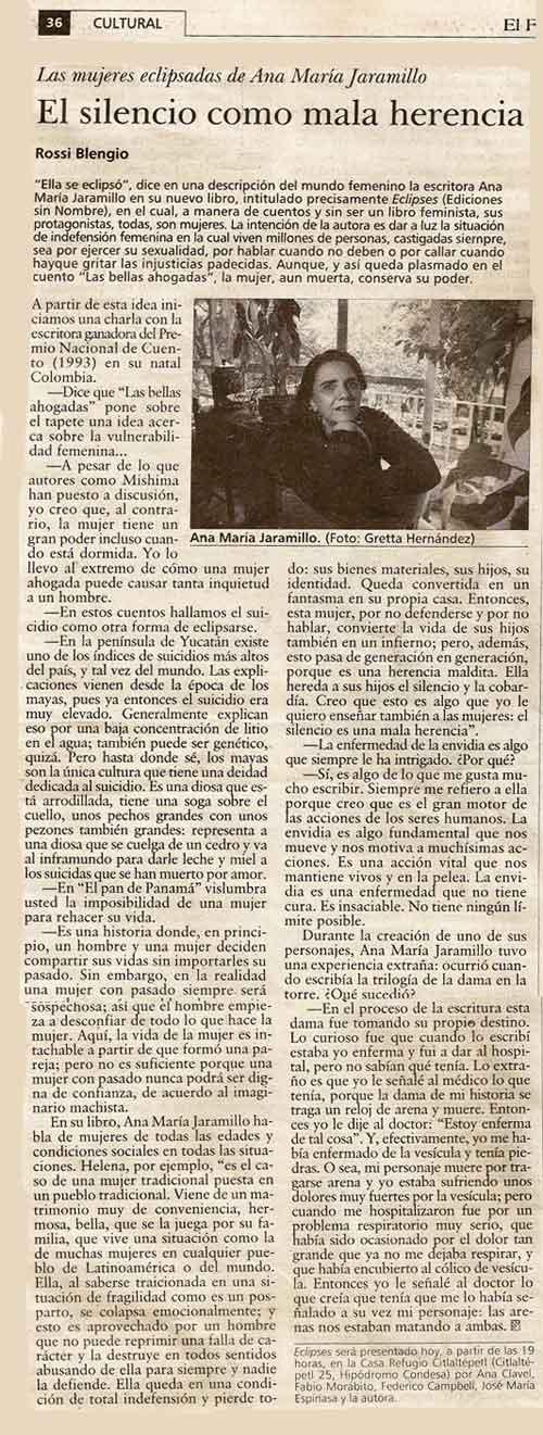 Entrevista a Ana María Jaramillo